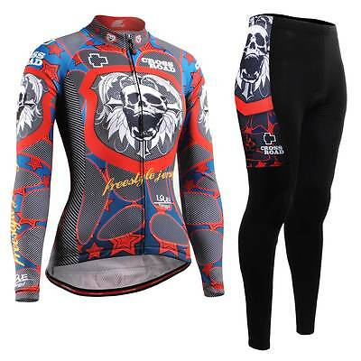 FIXGEAR CS-W1101-SET Women's Cycling Jersey & Padded Pants MTB Bike BMX Roadbike