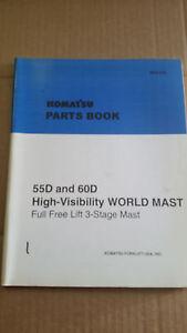 komatsu forklift parts book 55d 60d 3 stage mast ebay