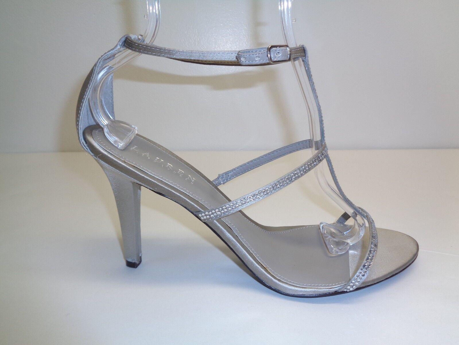 barato y de alta calidad Ralph Lauren M Aida gris Satinado Nuevos Nuevos Nuevos Mujer Zapatos Sandalias De Pedrería  ahorra hasta un 50%