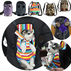 3f14db1337d Pet Dog Backpack Carrier Puppy Pouch Cat Front Bag Back Pack With ...