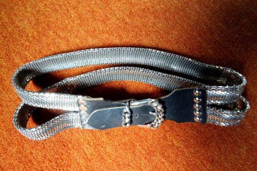 Exkl. Metallschuppengürtel 2 Bänder m.Ledergarnitur geschmiedete Kettenschnalle