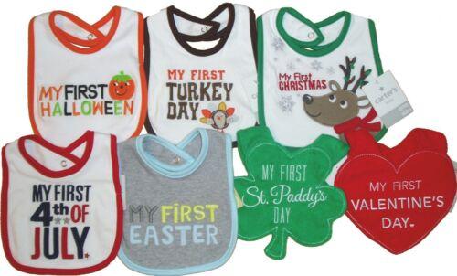 Carters Lot Bib Baby First Holiday Easter Halloween Xmas St Patricks Boys 1st