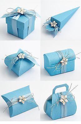 Luxus Diy Hochzeit Taufe Baby Party Geschenk Süßigkeiten Boxen Blau Seide Ebay