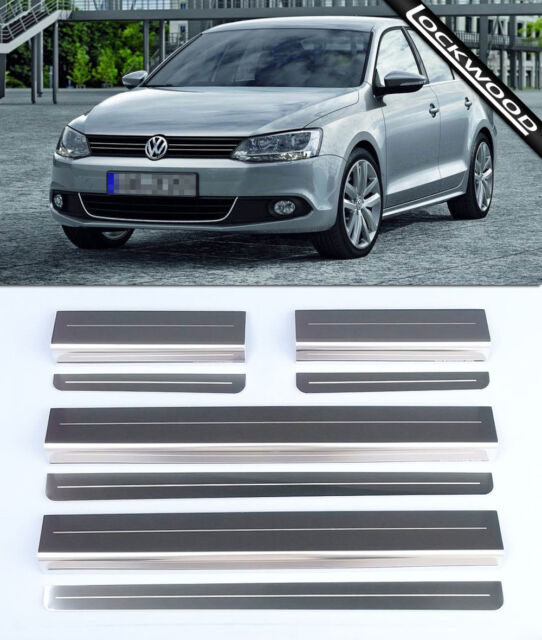 VW Jetta MK6 (Released 2011) Stainless Steel Sill Protectors / Kick Plates