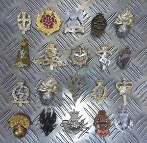 Genuine-British-Army-Military-Metal-Staybrite-Regimental-Various-Issue-Badges