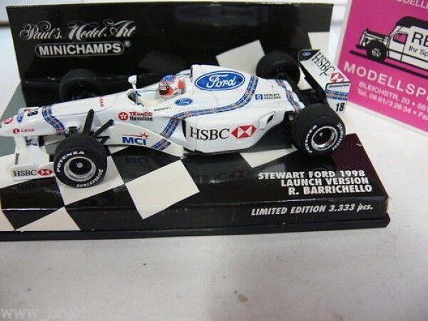 1 43 MINICHAMPS Stewart Ford Launch Verset. R. Barrichello 430980088