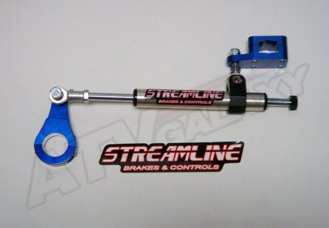 Streamline 7 Way Steering Stabilizer Rebuildable Honda TRX400EX//400X 99-16 Black