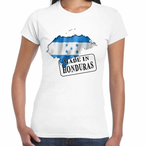 Made in Honduras Ladies T Shirt Flag and map