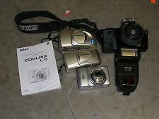 Nikkon, 2 Olympus, Minolta, Promaster cameras Parts Only