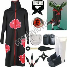 Anime Naruto Akatsuki cloak Zetsu Cosplay Costume set Anime