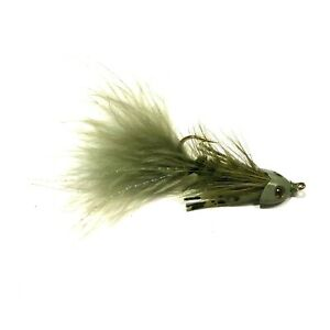Salmon 4 x Brown Crayfish Yabby Streamer Fly Fishing Flies For Trout Bass
