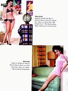 Pinup-Lithograph-Mara-Corday-Mara-Lane-Ann-Blyth-Myrna-Hansen-1955-VTG-MGM-Promo