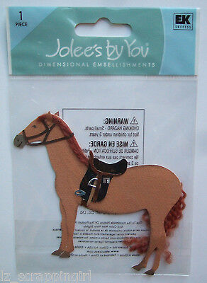 ~HORSE~ Jolee's By You Boutique Dimensional Embellishment; Western, Cowboy