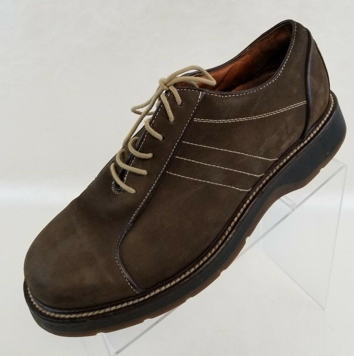Johnston Murphy Oxford Brown Nubuck Leather Lace Up Mens shoes  Size 10.5M