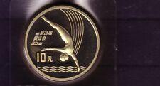 China VR 10 Yuan Silber Kunstsprung Barcelona 1992 (intern:olymunze:4 )