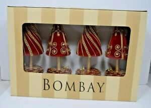 Bombay-Red-Top-Tree-S-4-Placecard-Holder-1120798-4-pack-Christmas-Holiday