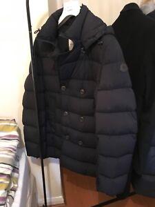 Para-Hombre-Moncler-Loirac-hacia-abajo-abrigo-chaqueta-de-doble-de-tamano-4-Azul-Marino
