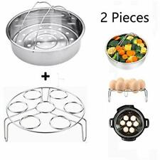 ZOEES Popular Instant pot accessories Set 6 in 1 Steamer Basket Rack /& Egg Bit