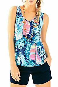 New-Lilly-Pulitzer-Gigi-Double-V-Hey-bay-Bay-Tank-Top-Sleeveless-shirt