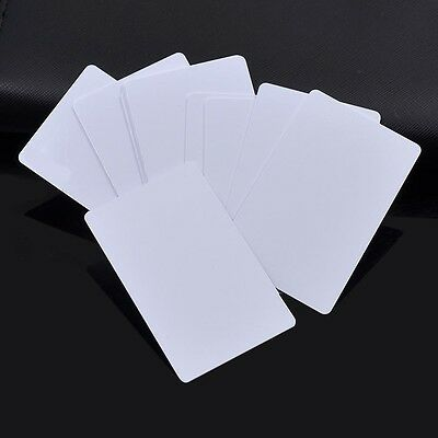 10 Pcs Blank White Inkjet Pvc Cards for Making Transportation Card ID Card Tool