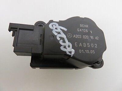 05 Mercedes C230 Kompressor W203 AC Heater Box Flap Actuator 2038201642
