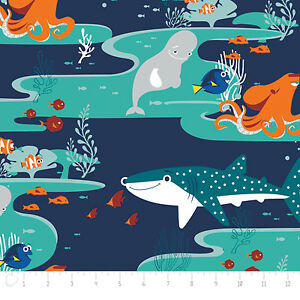 Finding-Dory-Characters-in-Navy-85170101-Camelot-100-cotton-fabric-by-the-yard