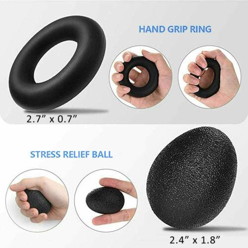 6Pcs Hand Grip Strengthener Set Wrist Finger Forearm Exercise Resistance GripKit