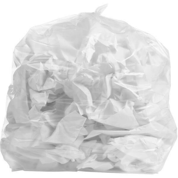 PlasticMill 7-10 Gallon, Clear, 1 MIL, 24x23, 500 Bags Case, Garbage Bags.
