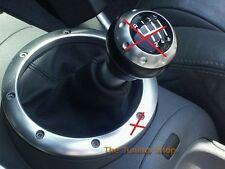 Se adapta a Audi Tt Mk1 Coupe Roadster Gear Stick polaina De Cuero Negro Cambio Arranque Nuevo