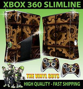 Details about XBOX 360 SLIM STEAMPUNK GEARS VICTORIAN COGS STEAM STICKER  SKIN & 2 PAD SKINS