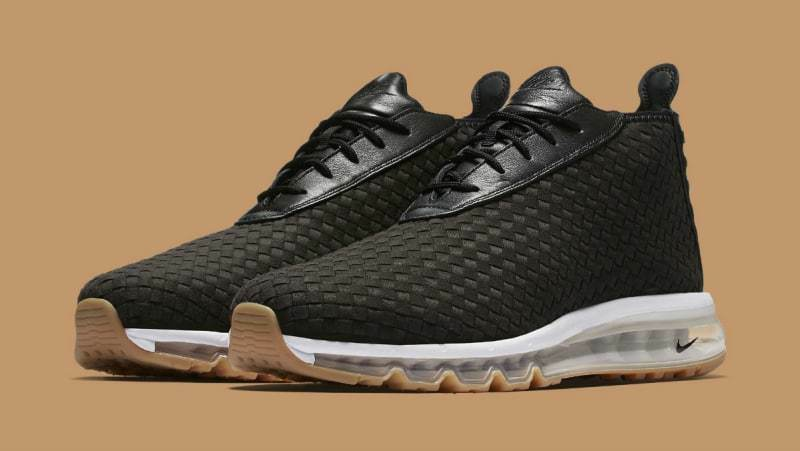 Nike NikeLab Air Max Woven Boot Black White Brown Gum 921854-003 Size 8.5