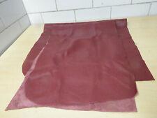 LEDER Lederpaket Lederstücke Rubinrot Rot DICKLEDER ca. 0,84 qm (159)