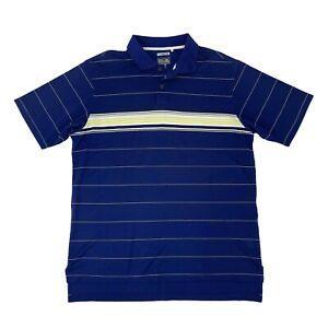 Adidas Golf Shirt Men's Size M Blue Short Sleeve Collared Climacool Polo Golfer
