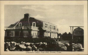 Groton-CT-Chasanba-Lodge-Fort-Hill-Postcard-bck
