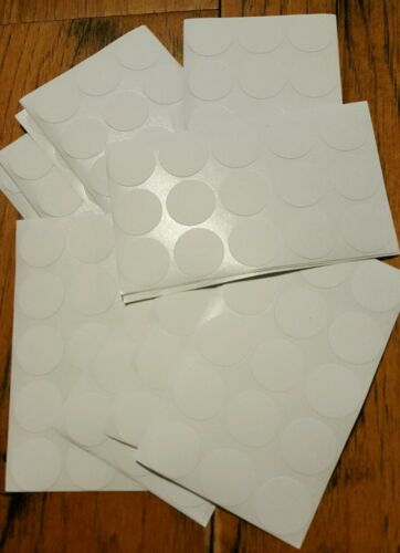 """NEW 150 BLANK WHITE GARAGE YARD SALE DOTS LABELS SELF ADHESIVE Removable  3//4/"""""""