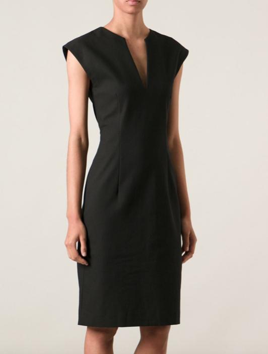 STUDIOS Nival Stretch ACNE Piqué Dress Designer Tubino Nero Tg