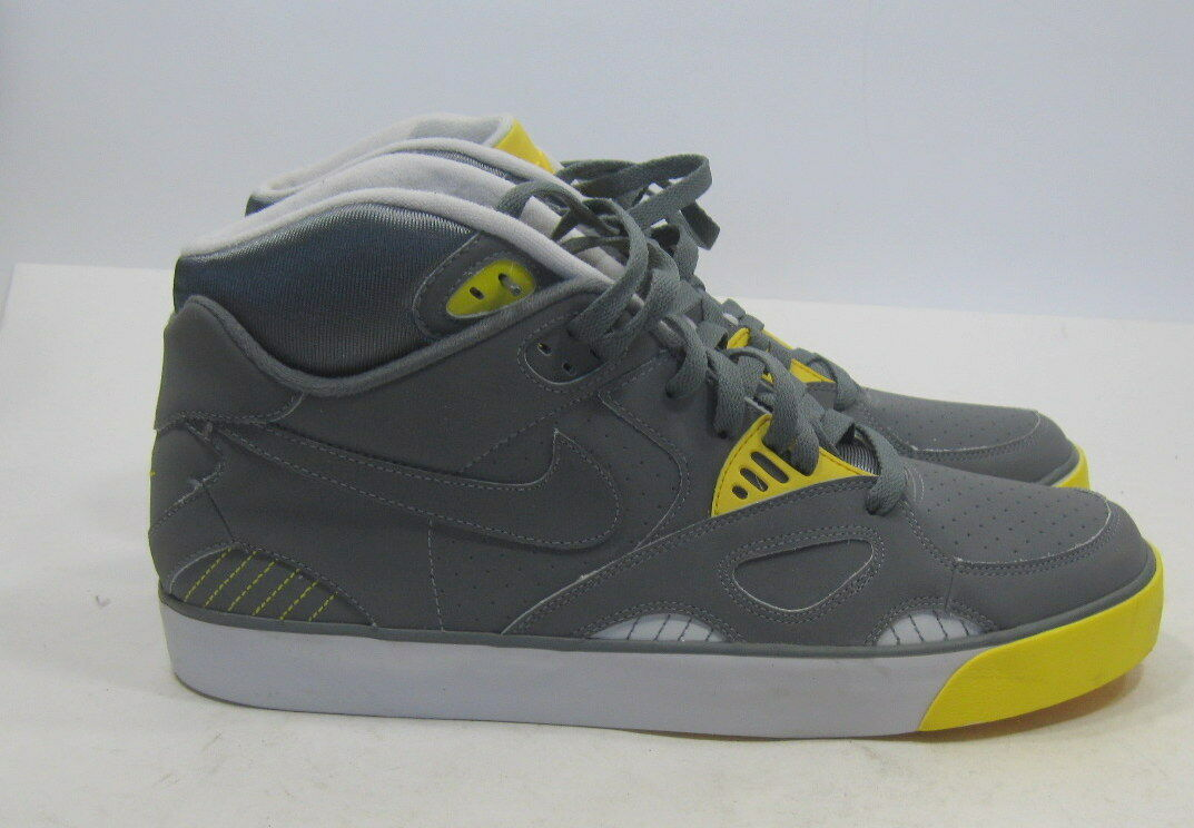 Nike Auto Trainer (Neutral Grey Vibrant Yellow) Sneakers 407935-002 Size 13