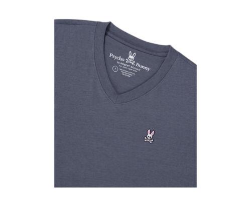 Psycho Bunny Classic V-Neck Normandy Men/'s Big and Tall T-Shirt B9U100J1PC-NOR