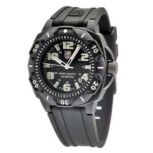 Luminox-Men-039-s-Watch-Sentry-0200-Series-Black-Silicone-Rubber-Strap-0201-SL