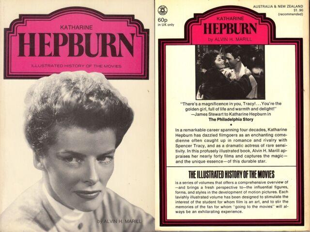 KATHARINE HEPBURN By ALVIN H.MARILL - 1974 - Paper/Soft Back Book - UNREAD B#C