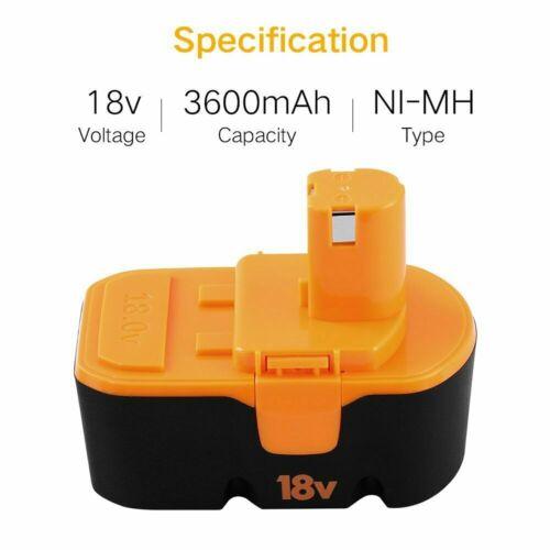 PLUS P101 ABP1803 BPP1820 1322401 1400672 18V 3.6Ah P100 Battery For Ryobi ONE