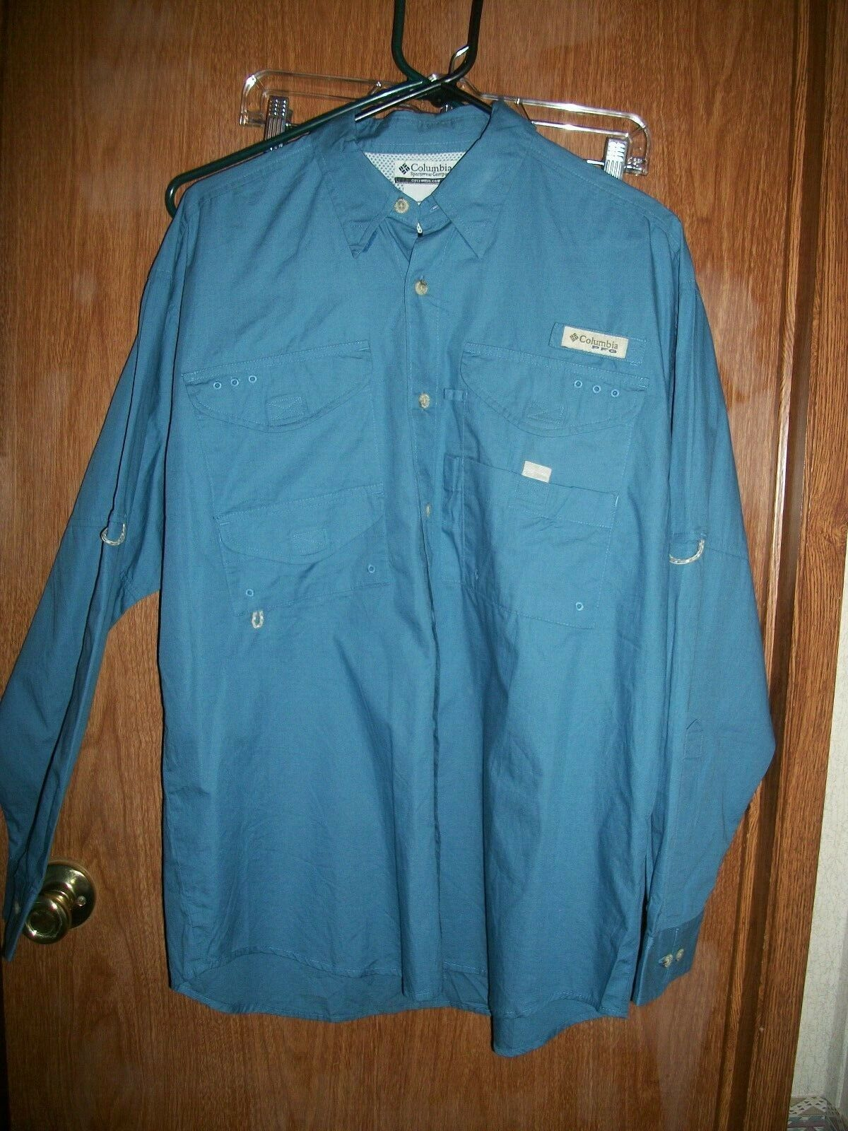 NWT COLUMBIA PFG MEDIUM blueE BONEHEAD BUTTON FRONT  FISHING SHIRT SZ SMALL   95.  guaranteed