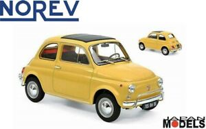 FIAT 500 L 1971 Tahiti Yellow LIMITED 083/500 Norev 187772 Die Cast 1/18 New