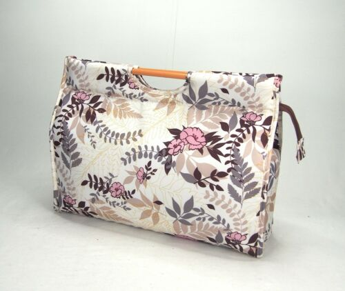 Knitting Bag Wool / Yarn / Craft Storage Bag Pretty Floral Design, Fully lined