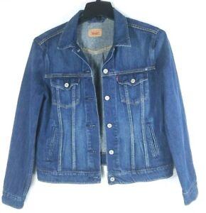 LEVIS-STRAUSS-Kids-Boys-Blue-Denim-Distressed-Trucker-Style-Jean-Jacket-SZ-Large