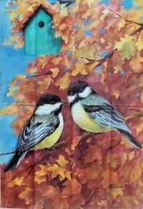 """My Little Chickadees Standard House Flag by Toland 28"""" x 40"""", #2062"""
