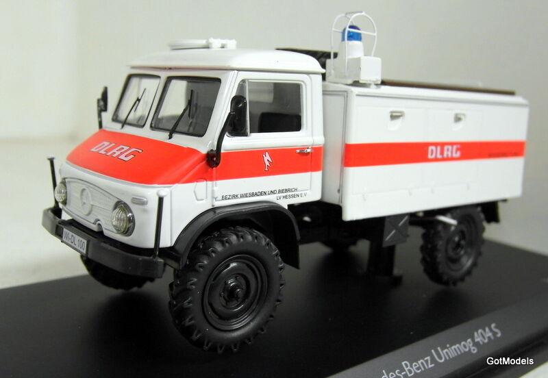 Schuco 1 43 échelle 450339600 mercedes benz unimog 404S TLF8 dlrg diecast model