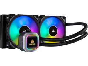 CORSAIR Hydro Series, H100i RGB PLATINUM, 240mm, 2 X ML PRO 120mm RGB PWM Fans,