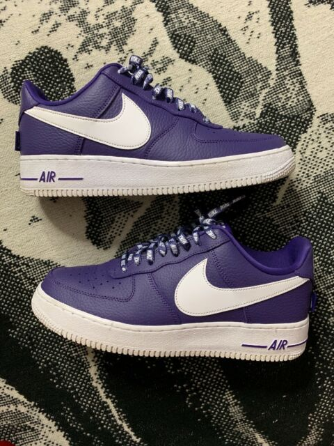 brand new fee7c 20bb8 NIKE Air Force1 '07 LV8 AF1 Low NBA PACK Court Purple White 823511 501 Sz 9  Used