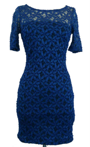 Atmosphere Blue Floral Lace Dress Sizes 6 8 10 /& 12
